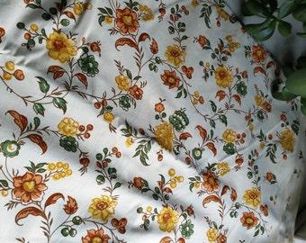 Vintage Gold Floral Cotton Fabric