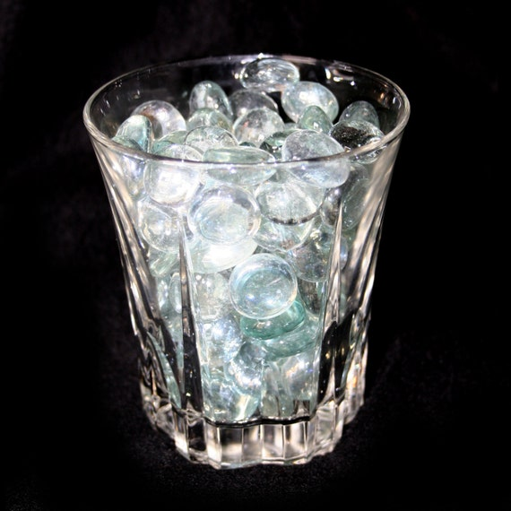 Clear Colored Marbles : Pound clear flat glass marbles for vases aquariums