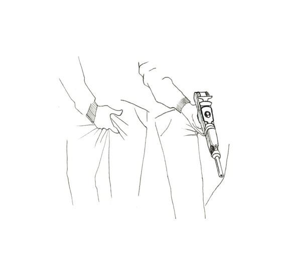 minimalist ink print: Rifle and Gun