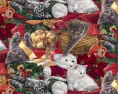 Four Seasons By David Textiles Multi Christmas Gifts Digitally Printed Christmas Holiday Fabric by the yard AL32346CW1