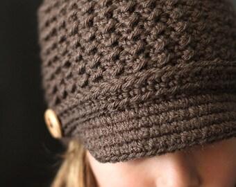 Crochet PATTERN Brookside Newsboy Cap Crochet Newsboy Hat Pattern Includes Sizes Newborn to Adult