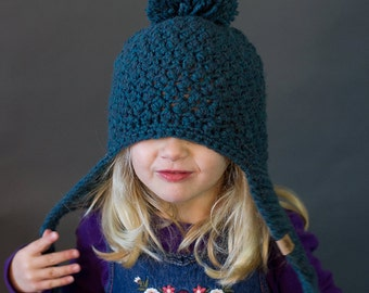 Crochet PATTERN Cumberland Ski Hat Crochet Hat Pattern Includes 6 sizes Newborn, Girls, Boys, Ladies
