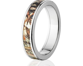 5mm Duck Blind Inlay Camo Rings, B1829Best Seller Camouflage Wedding Band: 5F-DuckBlind