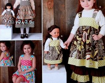 Girls Dress Sewing Pattern UNCUT Simplicity 1793 Sizes 3-8 doll dress