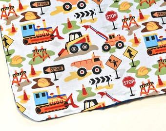 Mini Baby Security Blanket Changing Mat Trucks Baby Blanket Shower Gift Travel Changing Pad, Baby Accessories