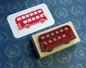 London Bus Rubber Stamp - London Transport - Red Bus Rubber Stamp - Gift for Boys - London Wedding - London Stationery - British Stamper