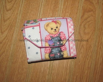 Child's Budgeting Wallet, Child's Wallet, Budgeting Wallet, Child Cash Wallet, Child Budgeting System, Budget System, Bear, Ready to Ship