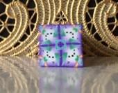 Polymer Clay Kaleidoscope Cane Purple, Gold, White, Black, Green No. 1055