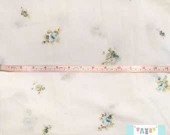 Twin Vintage Fitted Sheet with Small Blue Floral