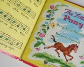 1 Vintage 1952 Childrens Story Book - SALE The Little Pony - 1950s Kids Book, Horse Lover Book Gift, Nursery Art Decor, Toddler Book