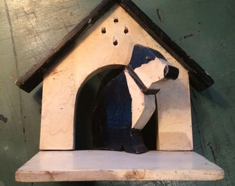 Antique Stand-Up Folk Art Dog House