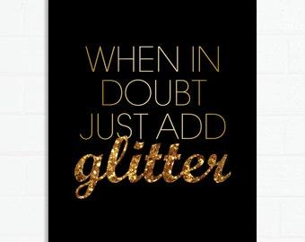 Just Add Glitter print