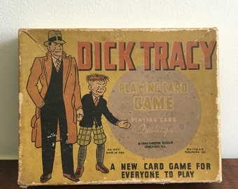 Dick tracy 1934 Card Game Box