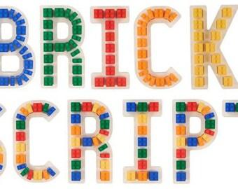 Brick Script Lego Wall Letters