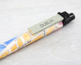Irish Gifts - Dublin Map Pen - Made in Ireland Gift - Gifts for Irish Abroad - Map of Dublin Ireland - Map Gifts - Anniversary Gifts for him