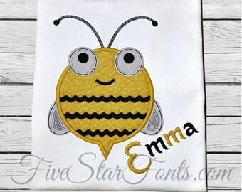 Ric Rac Bee Spring Applique