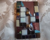 MOSAIC Light Switch Plate -  Single Switch, Copper, Iridescent, Lavender