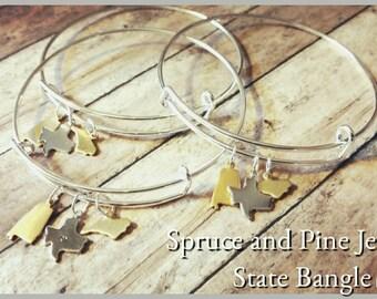 State Bangle Custom silver