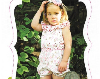 Create Kids Couture Whitney's Ruffle Neck Romper – New – Uncut Paper Pattern