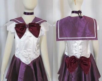 Child's Sailor Saturn Costume Cosplay Costume Size Girls 18mo 2 3 4 5 6 7 8 9 10 11 12 14 Sailor Moon