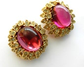 Elegant Ultra-Chic Vintage Ciner Earrings - Rare early Ciner earrings beautifully princely, with patent number - Art.375/4-