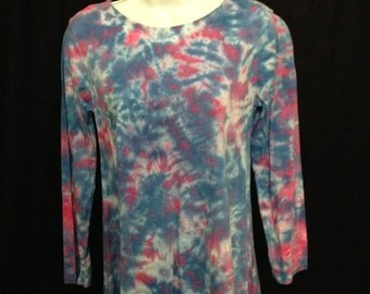 Women's Asymetrical Tunic in Blue and Pink