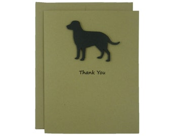 Labrador Retriever Dog Thank You Card Black Lab Dog Greeting Cards Dog Thank You Cards Dog Greeting Card