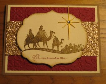 Card Kit : *Nativity* card kit Come to Bethlehem Christ Stampin Up Handmade cards Set of 4