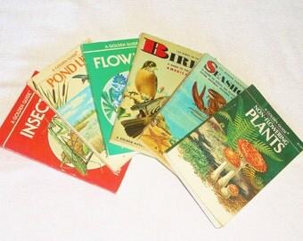 6 Vintage A GOLDEN GUIDE Books