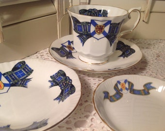 Elizabethan Nova Scotia Fine Bone China ~ Cup and Saucer ~ England China ~ Vintage Tea Cup and Saucers ~ Collectible ~ Gift for Her