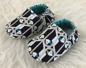 3-6 Months Puffin Baby Bootie - Elastic Back - Ready to Ship