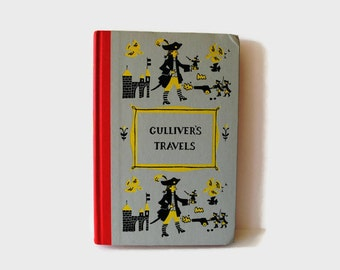 Vintage Gulliver's Travels by Jonathan Swift Junior Deluxe Editions 1950s