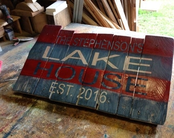 Custom Hand Painted Personalized Sign