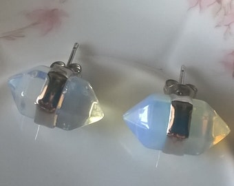 Opalescent Gemstone Earrings,Stud Earrings