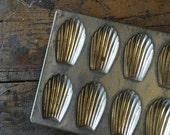 Madeleine cookie mold| pan | baking pan | vintage | made in france