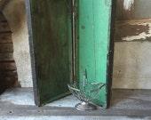 Rustic wood box rectangular storage