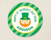 St. Patrick's Day Stickers - Leprechaun - Sheet of 12 or 24