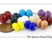 NEW! Bouncy Bead Pairs Lampwork Spacer Beads Glass Handmade - The Spacer Bead Shop