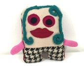 Tooth Fairy Pillow Monster Doll by Thank You Donnie Recycled Coats and Sweaters