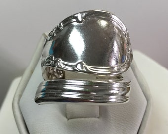 Sterling Silver Hand Formed Spoon Ring Size 7 1/2