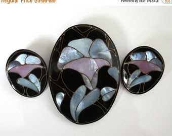 sale Vintage Destash Jewelry Mother of Pearl Flowers