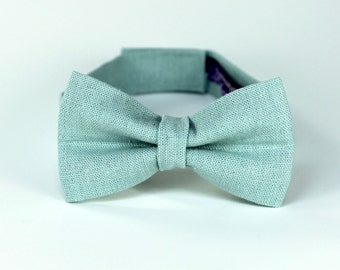 Boy's Bow Tie - Dusty Shale- Inspired by J.Crew - any size bowtie in grey green - matches BHLDN Sea Glass Dresses