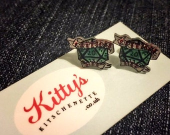 Critical Hit d20 Silver Plated Earrings
