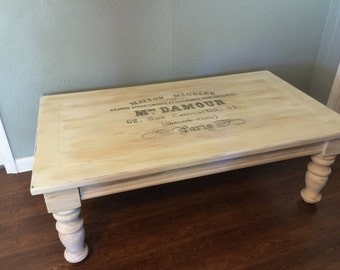 Shabby chic cottage coffee table