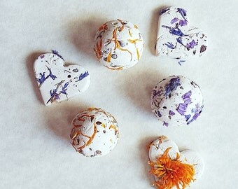 Rustic Seed Bombs, 16 Wildflower Seed Bomb Gift, Gardeners, Garden, Gardening Gift with Tag Botanical Gift