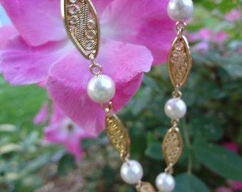 Vintage Goldtone Pearl Necklace