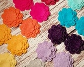 WOOL Felt Flower Cut Outs-The Brights Spectrum