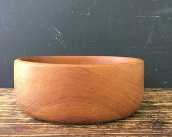 Mid Century Teak Wood Serving Bowl