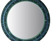 Round Decorative Mirror - Navy, Mint, Periwinkle