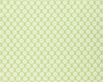 Leaf Green Little Flowers by Tanya Whelan for Free Spirit Fabric - quilt cotton
